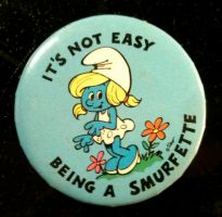 Smurfette Button by BlueHecate