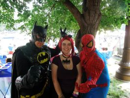 Batman and Spiderman at the Gay Pride Parade by BengalTiger4