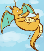 Dragonite by Social-Sloth