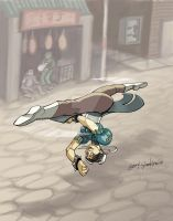 Chun Li Spinning Bird Kick by Stnk13