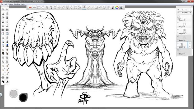 Sketchbook Pro Warm ups by SCPArt