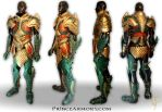 Medieval Aquaman Leather Armor Compiled View by Azmal