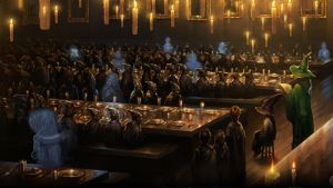 Pottermore Background: The Sorting Ceremony by xxtayce