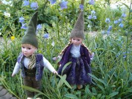 Little gnomes Campanula by JanuaryGuest