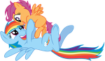 Vector RainbowDash and Scootaloo by Kyss.S by KyssS90