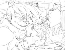 The trade. -sketch- by raychell1