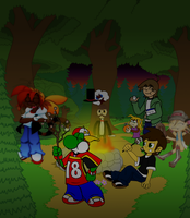 Collab - Around the Campfire by SmashToons