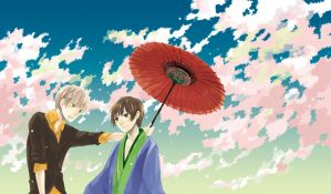 APH:under the cherry blossoms by Riwo