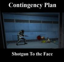 Contingency Plan: Shotgun to the Face by Ghost141