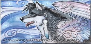 Mystical Canine Traditional Bookmark Done by lady-cybercat