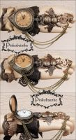Bumblebee steampunk watch cuff by Pinkabsinthe