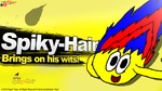 Super Smash Splash (New Rebrand) Spiky-Hair test by CreativeArtist-Kenta