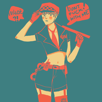 APH UK: Sexy Officer by amewica