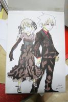 Soul Eater- Maka and Soul by Cane-the-artist