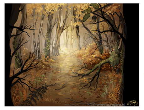 October forest by MarineElphie
