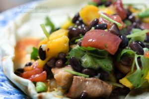Grilled pork with mango salsa by aheria
