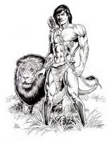 Tarzan and Friend by Tarzman