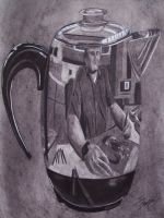 Reflection in a Coffee Pot by Mason44