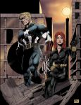 Captain And Blackwidow by airtightsoup