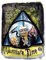 Harry Potter vs Adventure Time Deathly Hallows by Tsubasa-No-Kami