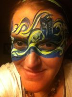doctor who face paint by EeKeRs05