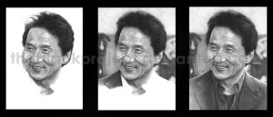 Progress of Jackie Chan by theblackproject