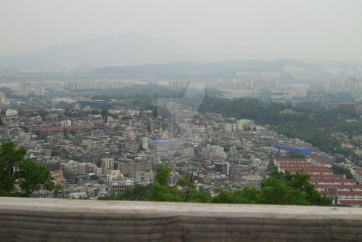 View from Seoul Tower by StrawberryGumiho