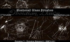 shaterred glass brushes by Letterbomb21