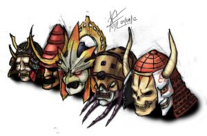 Soul Calibur Helmets COLOURED by yoshimitsutqt