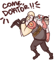 TF2- Come, Doktor! by AuttyAuttyOxenFree