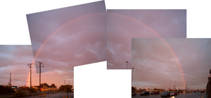 Complete double rainbow by Ripplin