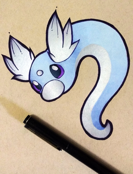 Pokemon - Dratini by heatbish