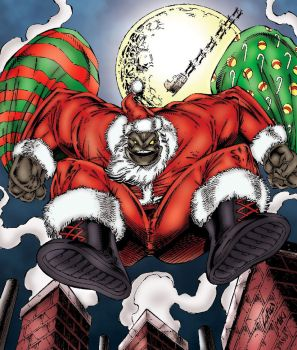 Badrock X-MAS - Rob Liefeld, my colors by pascal-verhoef