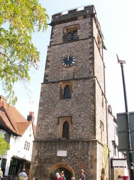 St Albans civic clock tower by faeriesoph