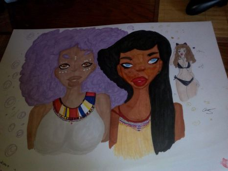 afro girls by ionona