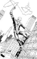 Spidey Swining - commission by JasonMetcalf