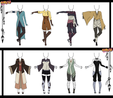 Naruto Adoptable Outfit Set 16 - Closed by Orangenbluete