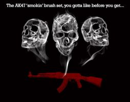 AK 47 Smokin Brush Set by DS10Portfolio