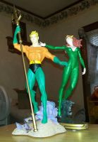 Aquaman and Mera by nightwing70