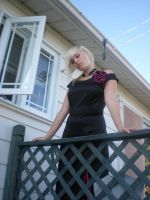 Lady rose at the balcony 01 by gsdark-stock