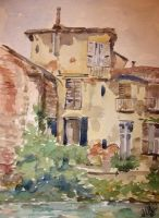 The old house on... by lapoall by TraditionalArt