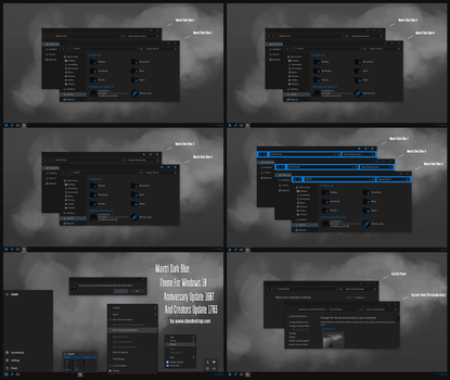 Maxtri Dark Blue Theme Win10 Creators Update by Cleodesktop