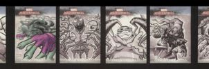 Marvel Sketch Cards set 3 of 5 by soliton
