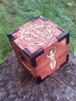 Antler Pentacle and Goddess Box by sesshys-jaded-samuri