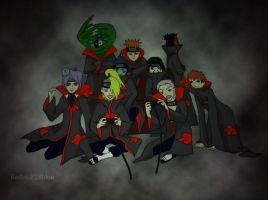 Akatsuki Playing Video Games by redwolf18blue