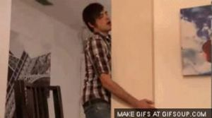 Anthony Padilla *Making out with a wall*GIF by SmoshyArt
