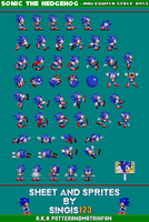 Sonic TH - How Eggman Stole XMas Sprite Sheet by singis123
