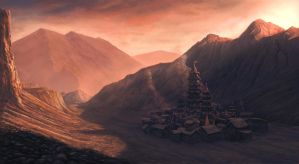 Mountian Settlement by eddieshred