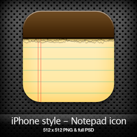 iPhone style - Notepad icon by YaroManzarek