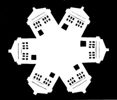 TARDIS Snowflake by WithTwo